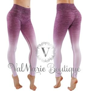 Plum lilac gradient active yoga pant legging